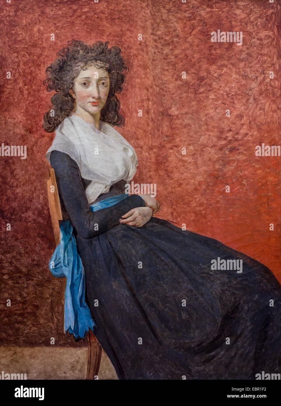ActiveMuseum_0001843.jpg / Madam Charles-Louis Trudaine, 1792 - Jacques-Louis David Oil on canvas 25/09/2013  - - Stock Image