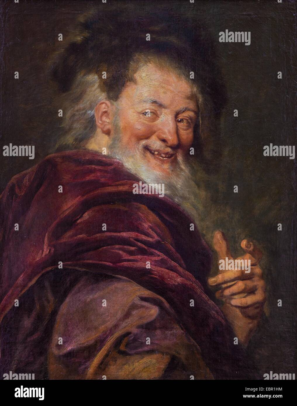 ActiveMuseum_0001883.jpg / Democritus, 1692 - Antoine Coypel Oil on canvas 25/09/2013  -   / 17th century Collection - Stock Image