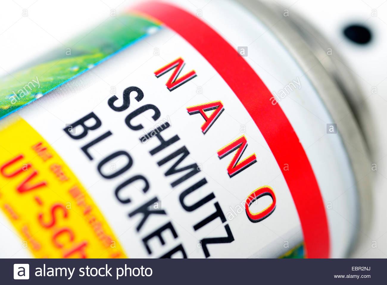 nano-emulsion with, UV protection, Germany - Stock Image