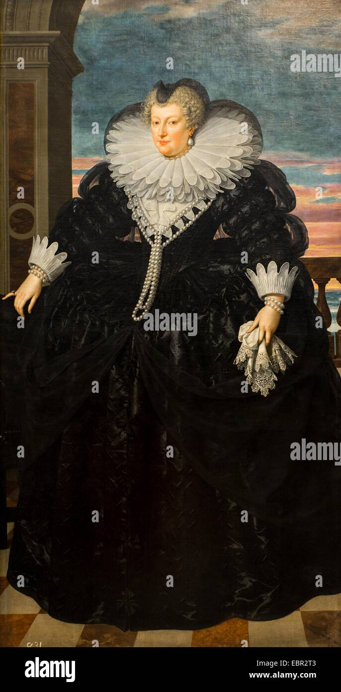 ActiveMuseum_0003141.jpg / Marie de Medici, Queen of France, 1617 - Frans Pourbus the Younger 18/09/2013  -   / - Stock Image