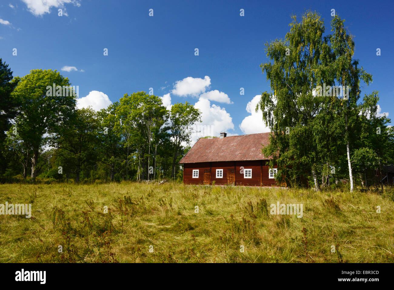 traditional swedish farm house, Sweden, Smaland - Stock Image