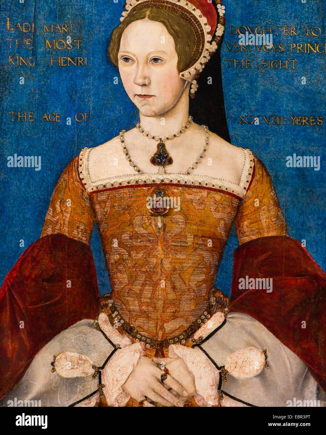 ActiveMuseum_0003624.jpg / Mary I, The Daughter of Henry VIII and Catherine of Aragon, 1544 - Master John  22/01/2014 - Stock Image