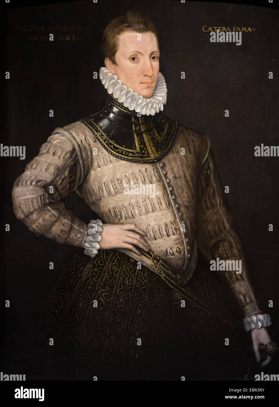 ActiveMuseum_0003639.jpg / Sir Philip Sidney, soldier, diplomat and author, 1576 - unknown artist 22/01/2014  - - Stock Image
