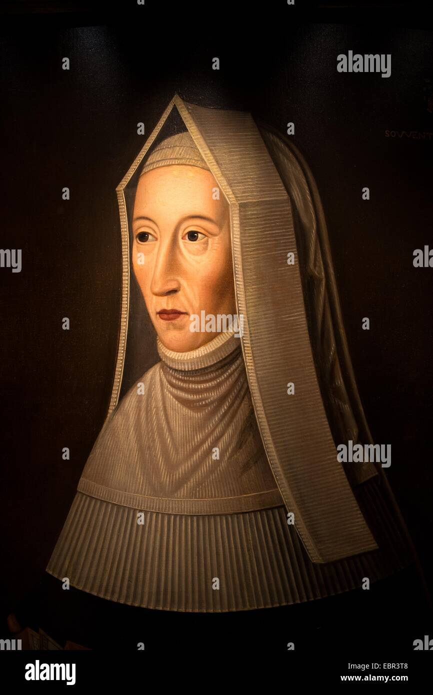 ActiveMuseum_0003643.jpg / Lady Margaret Beaufort, Countess of Richmond and Derby, Mother of Henry VII, around 1650 - Stock Image