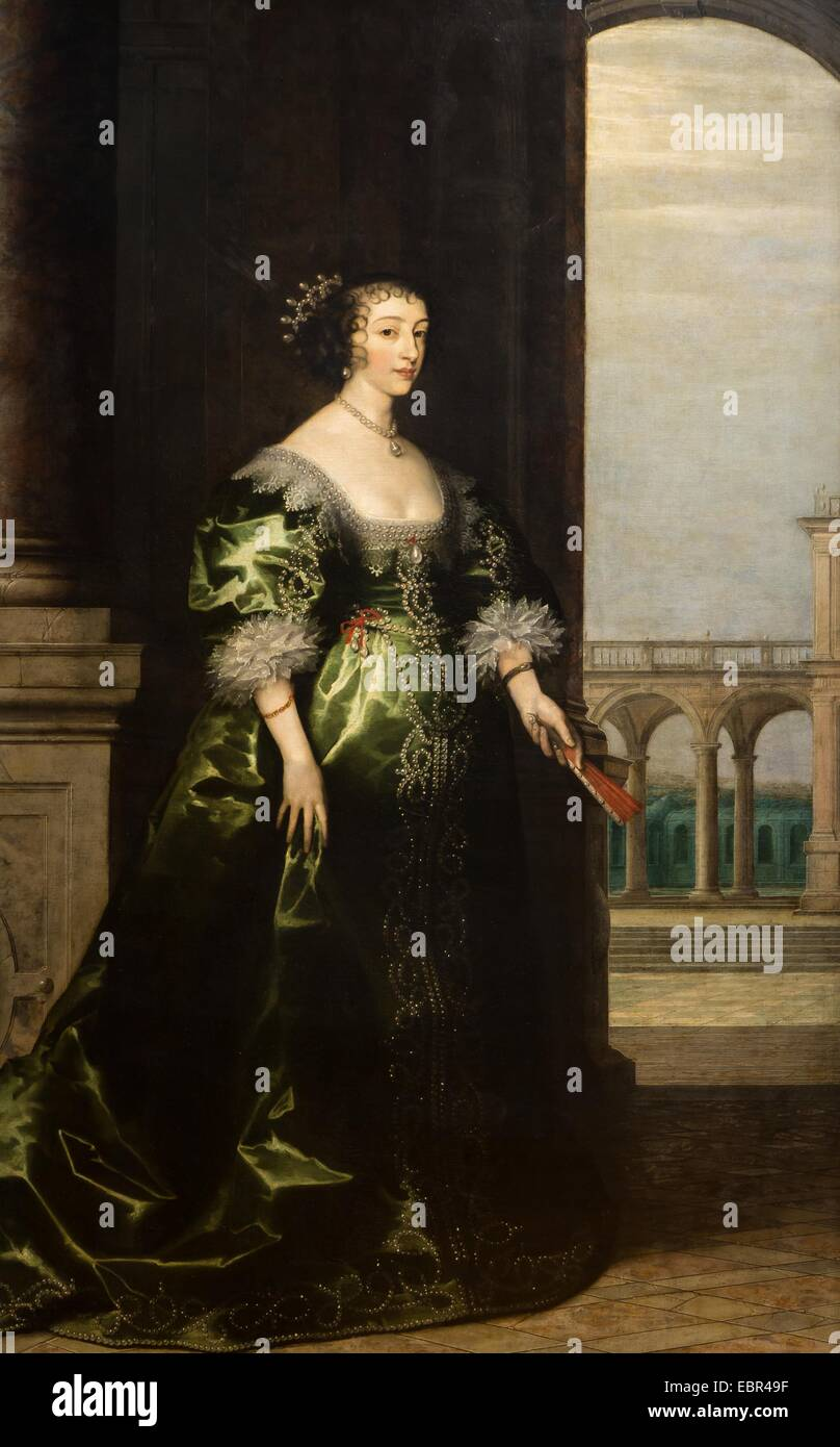 ActiveMuseum_0003740.jpg / Queen Henrietta Maria, the yongest daughter of Henri IV of Franc and Marie de Medicis, - Stock Image