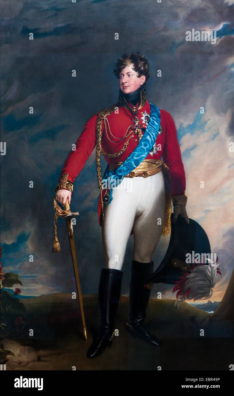 King George IV when Prince of Whales, 1815 - after Sir Thomas Lawrence 22/01/2014  -   / 19th century Collection - Stock Image
