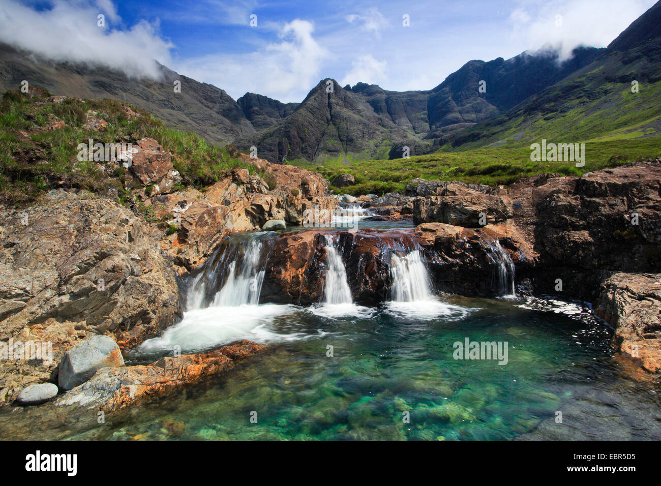 Fairy Pools on Isle of Skye, United Kingdom, Scotland, Isle Of Skye - Stock Image