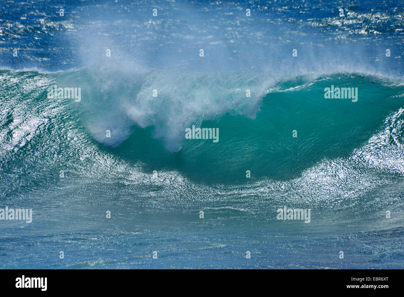 breaking of the waves, Portugal - Stock Image