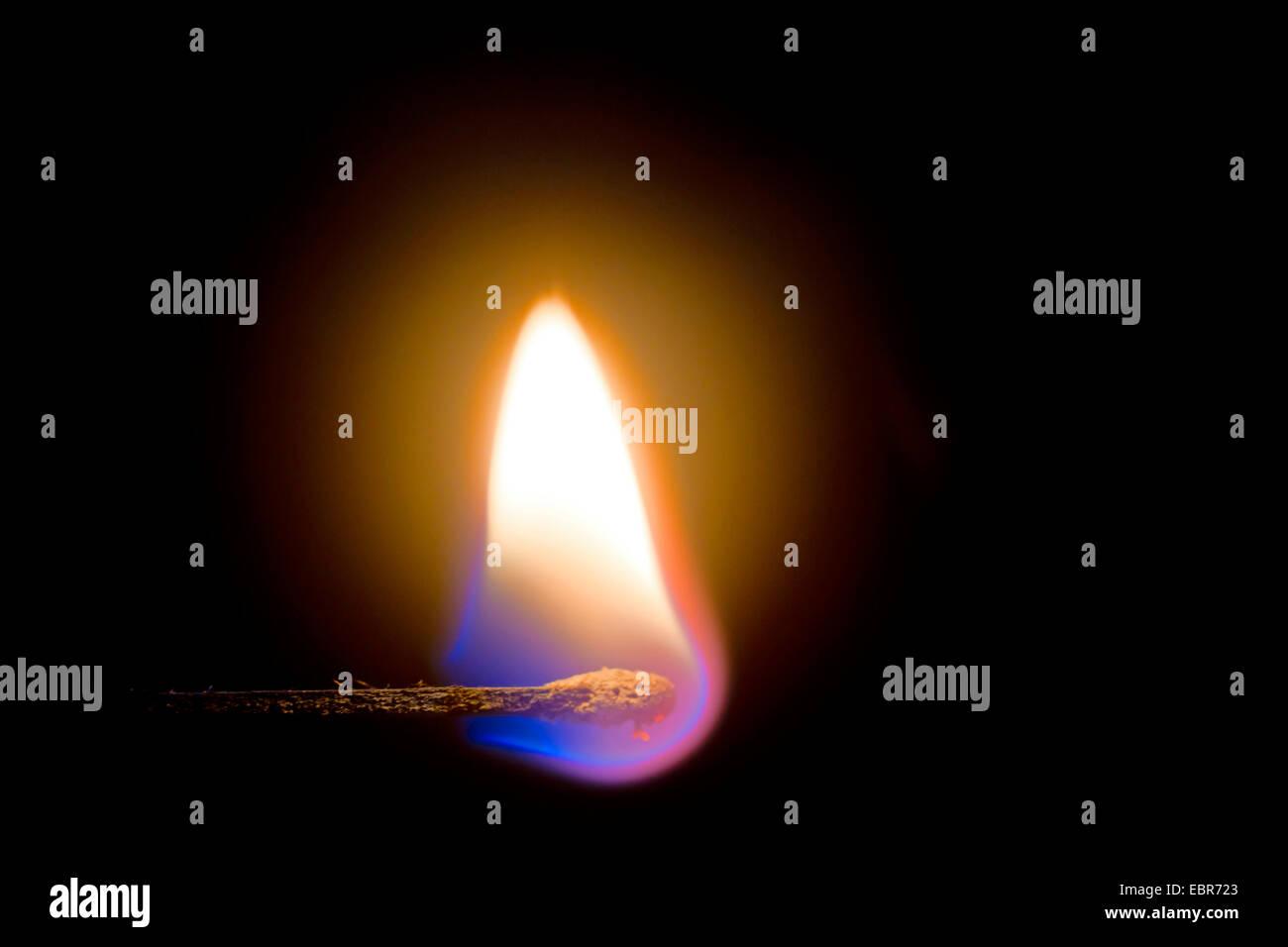 burning matchstick, Germany - Stock Image