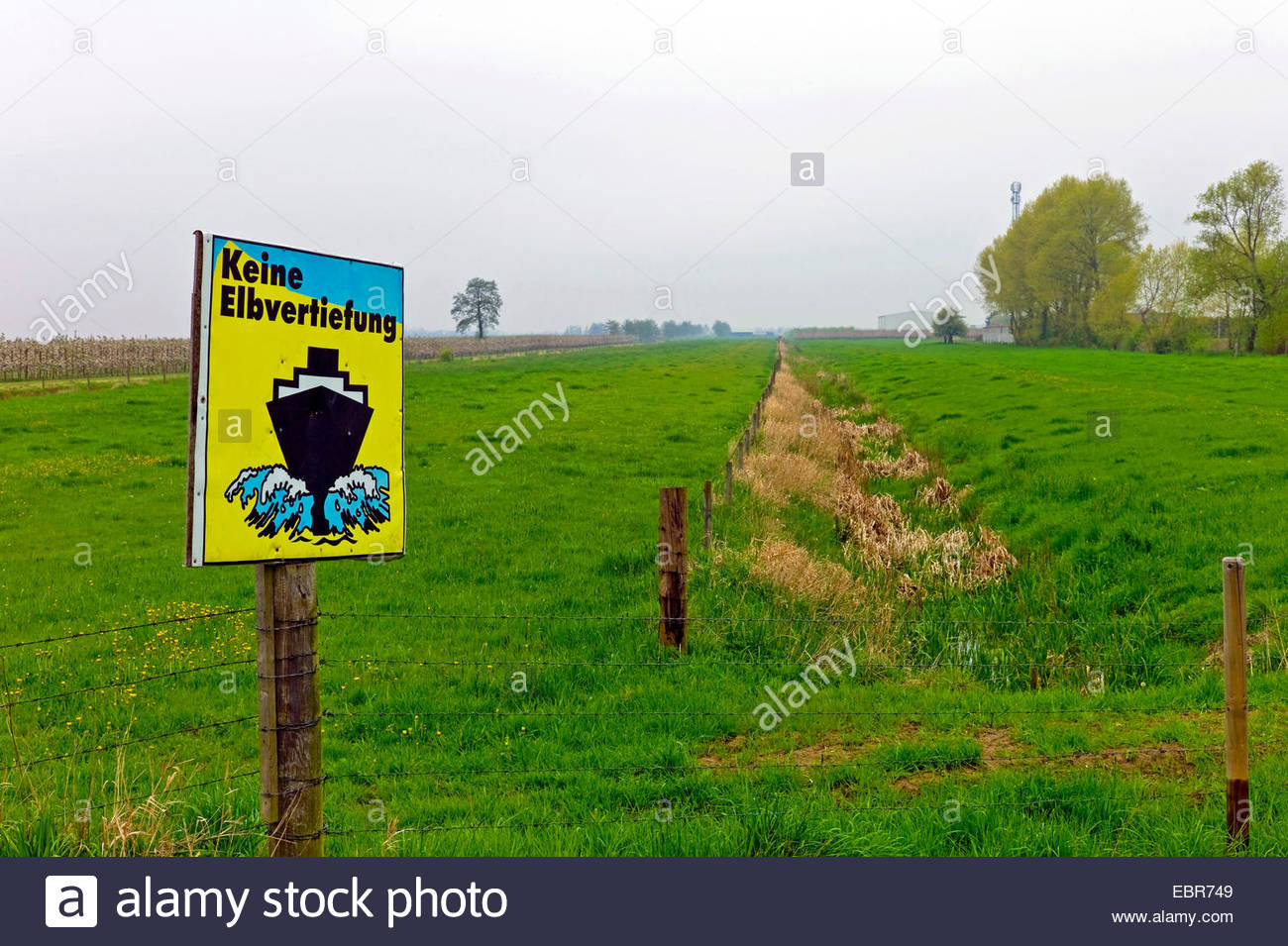 protest sign , Germany, Lower Saxony - Stock Image