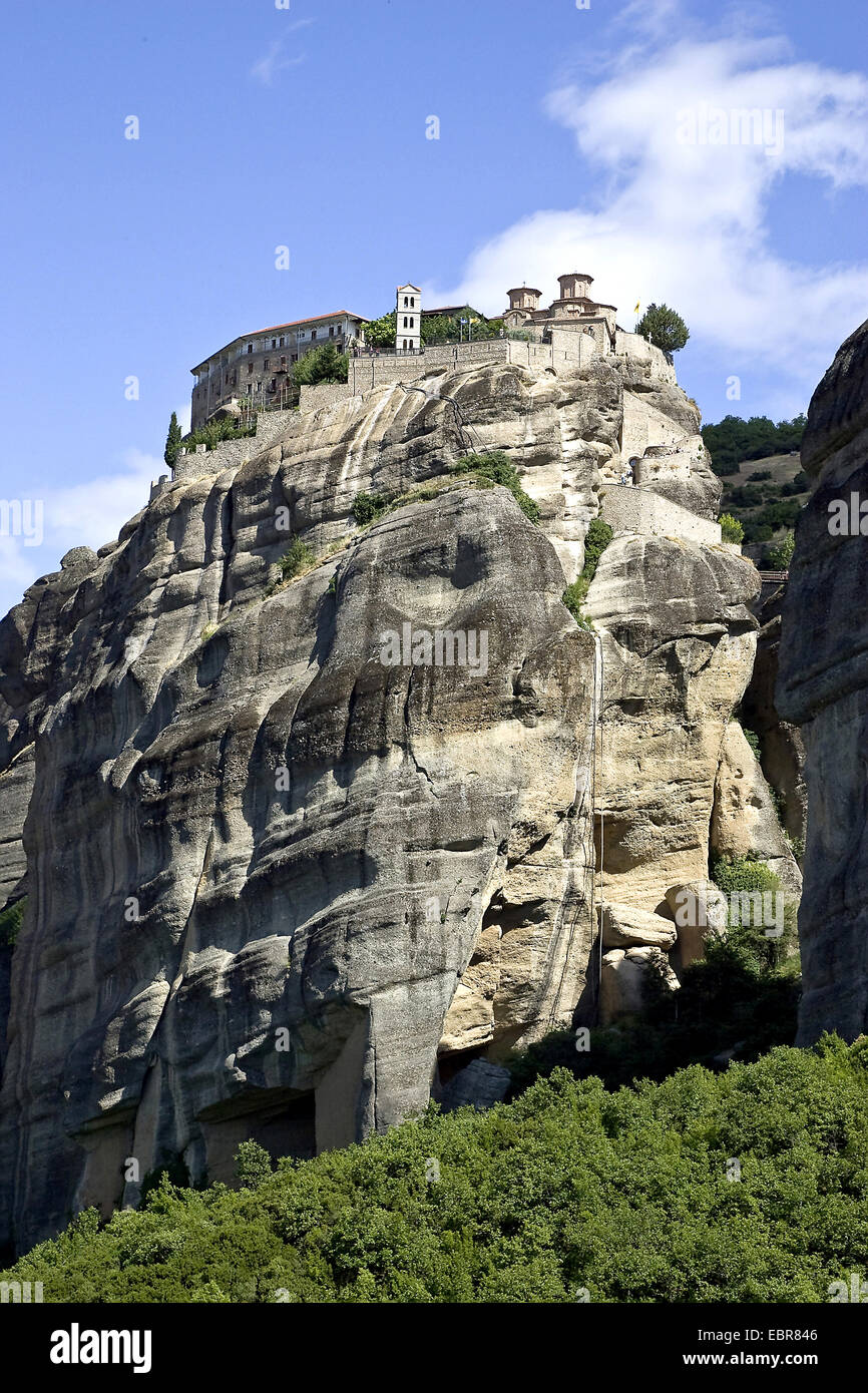 Meteora monasteries, Greece, Thessaly - Stock Image