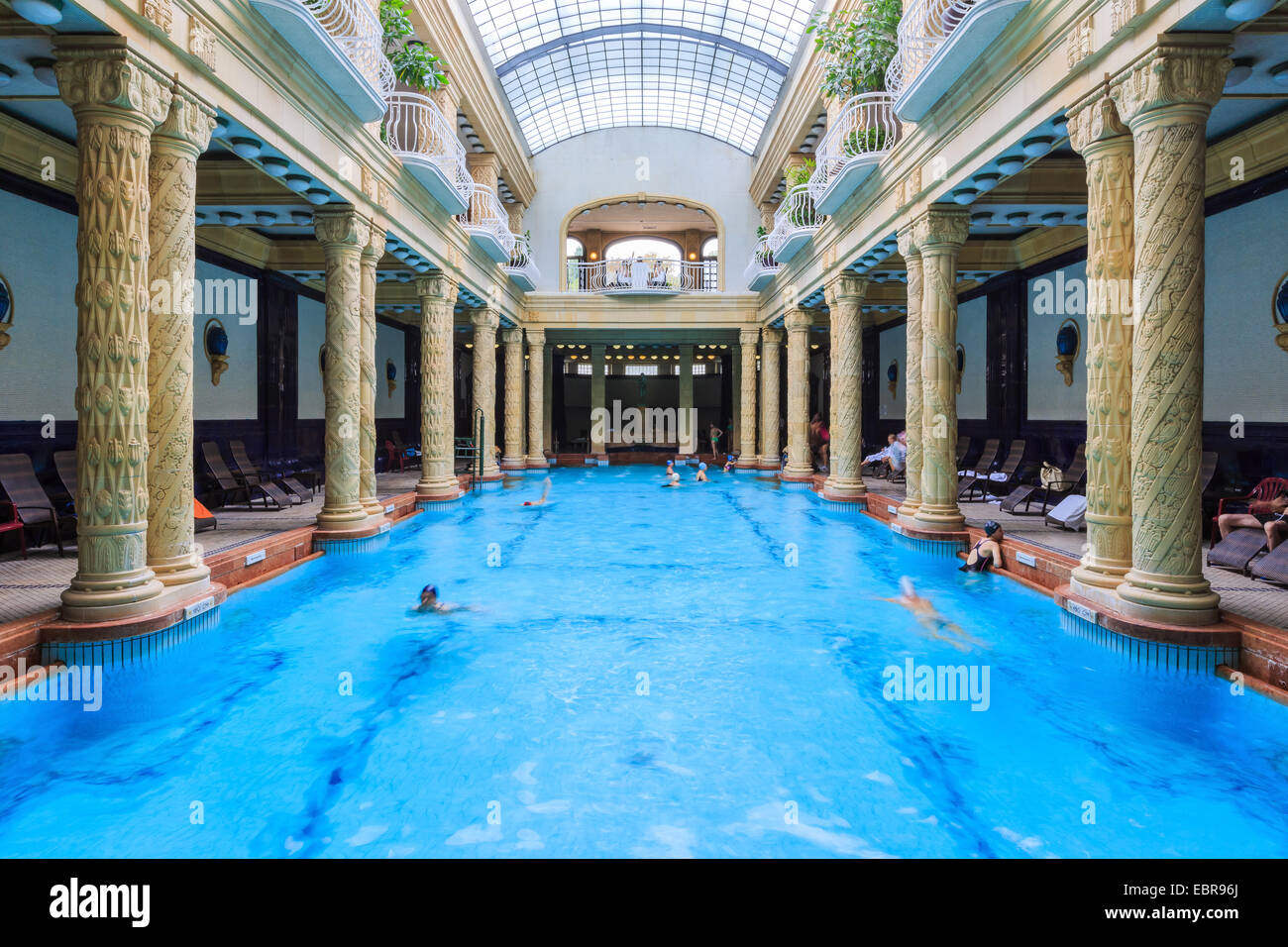Gellert Thermal Bath. Budapest, Hunagry - Stock Image