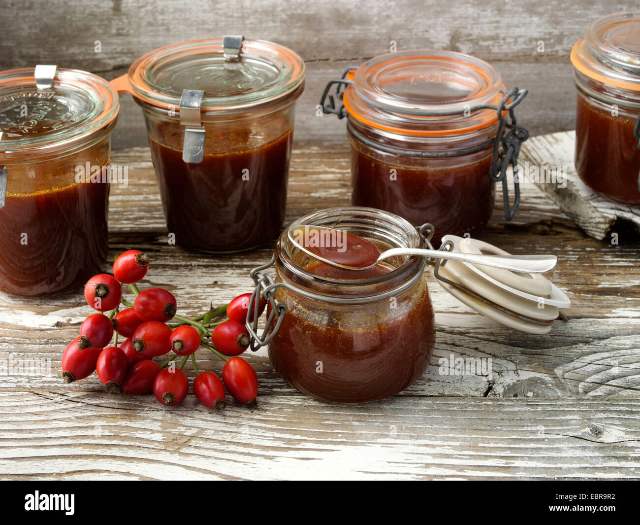 Rose hip jelly - Stock Image