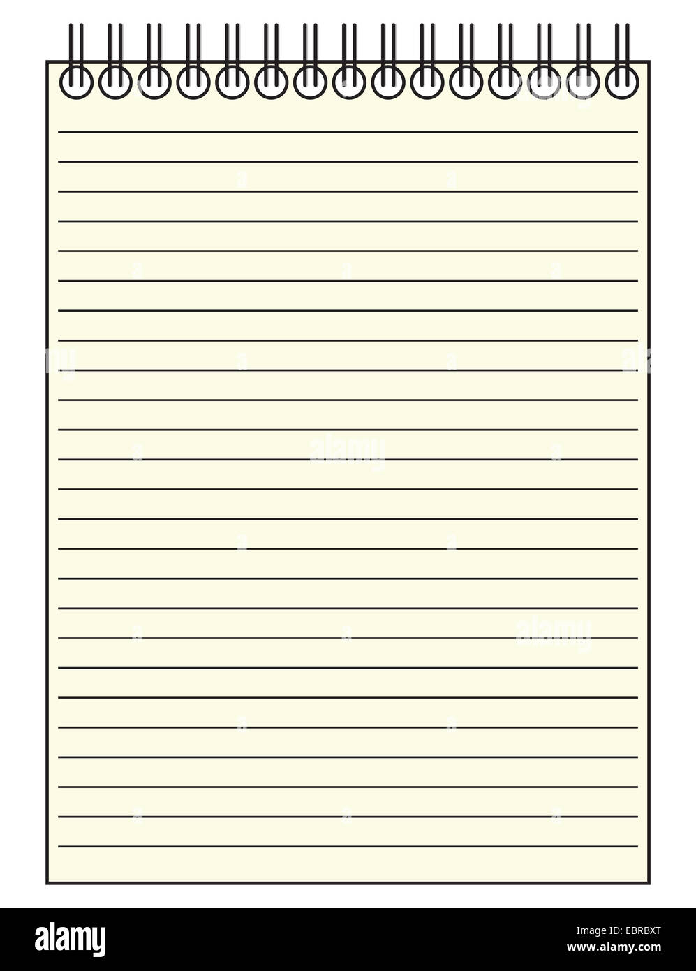a reporter s lined notepad template or background isolated on a