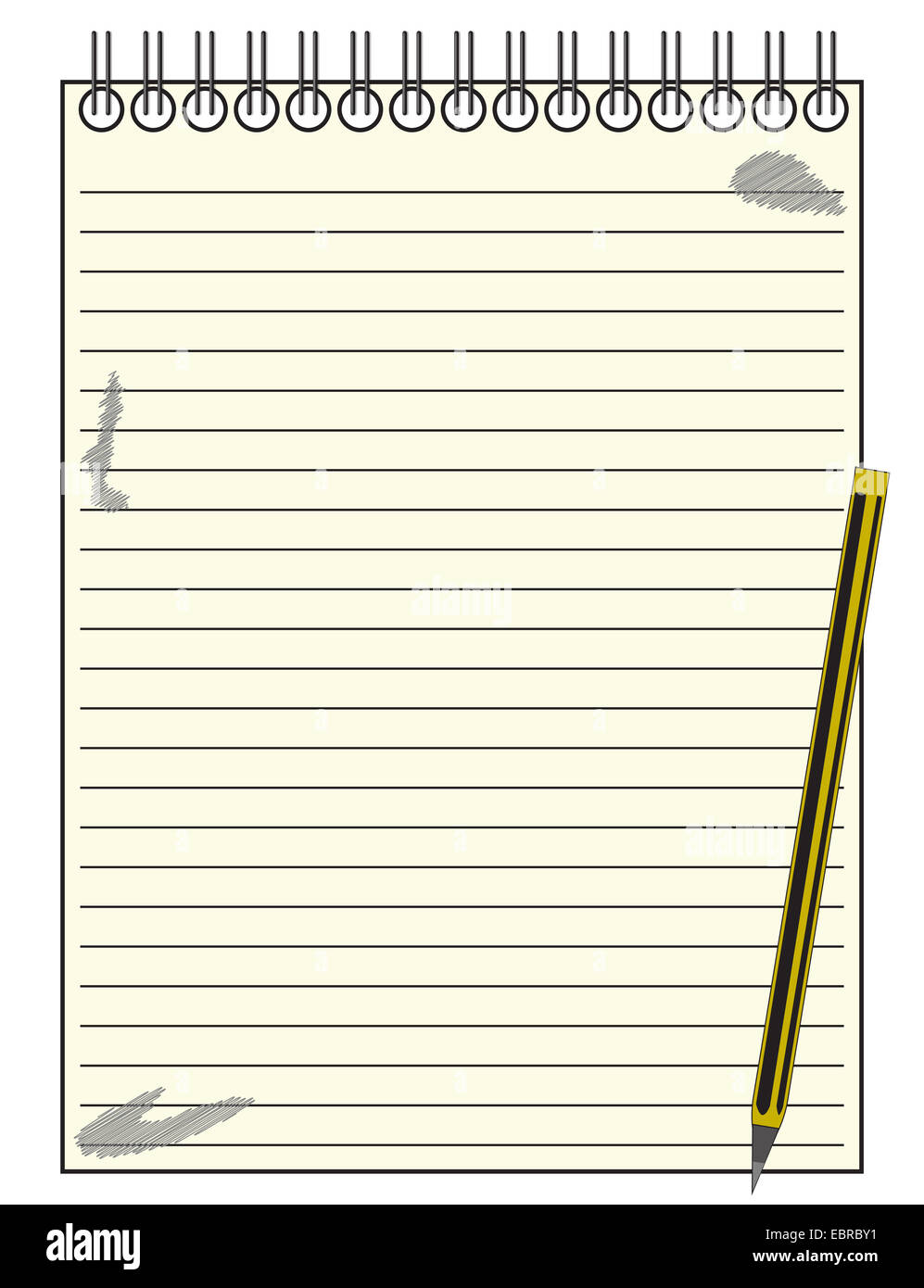 a lined reporter s blank notepad template or background with a