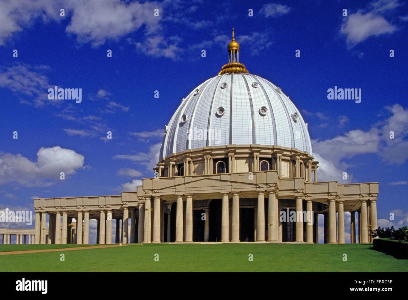 Basilika de Notre Dame, Cote d'Ivoire, Yamoussoukro - Stock Image