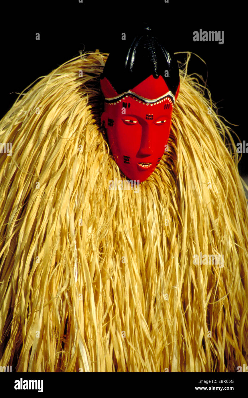 african mask, Cote d'Ivoire - Stock Image
