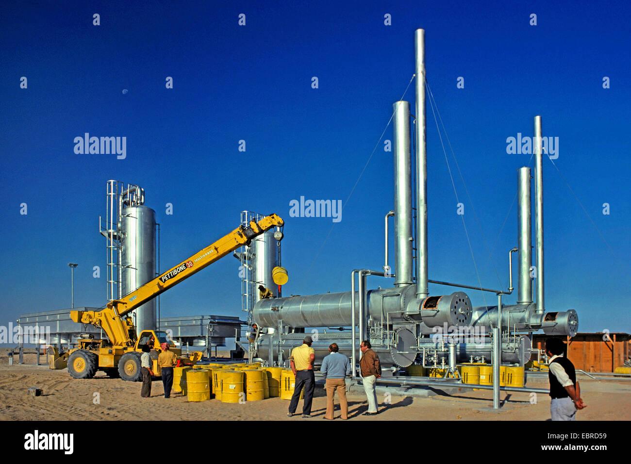 Kerosene pumping station, Iraq, Rumaila - Stock Image