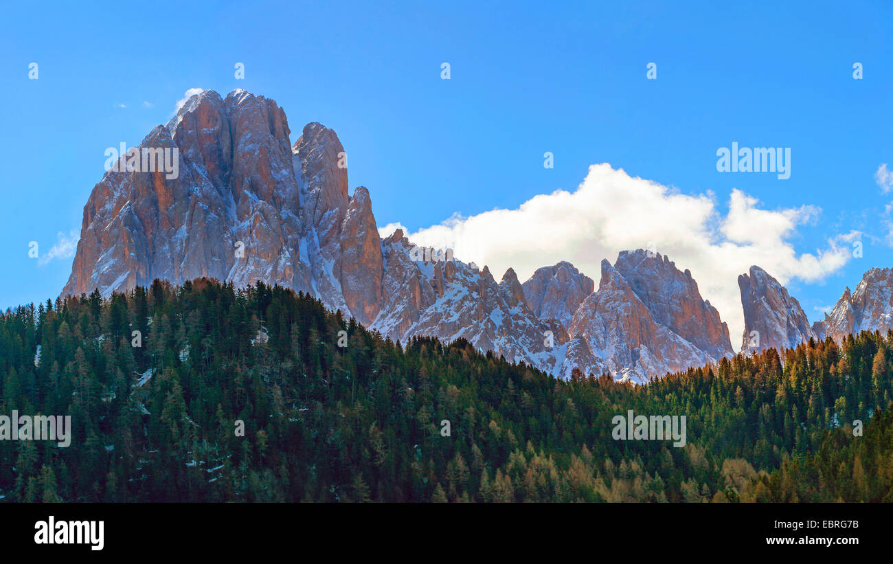 north side of Langkofel, Italy, South Tyrol, Dolomites - Stock Image