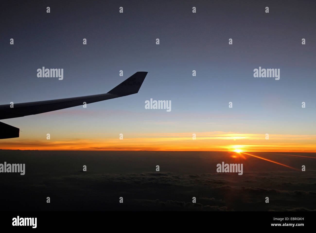 air foil in sunset - Stock Image