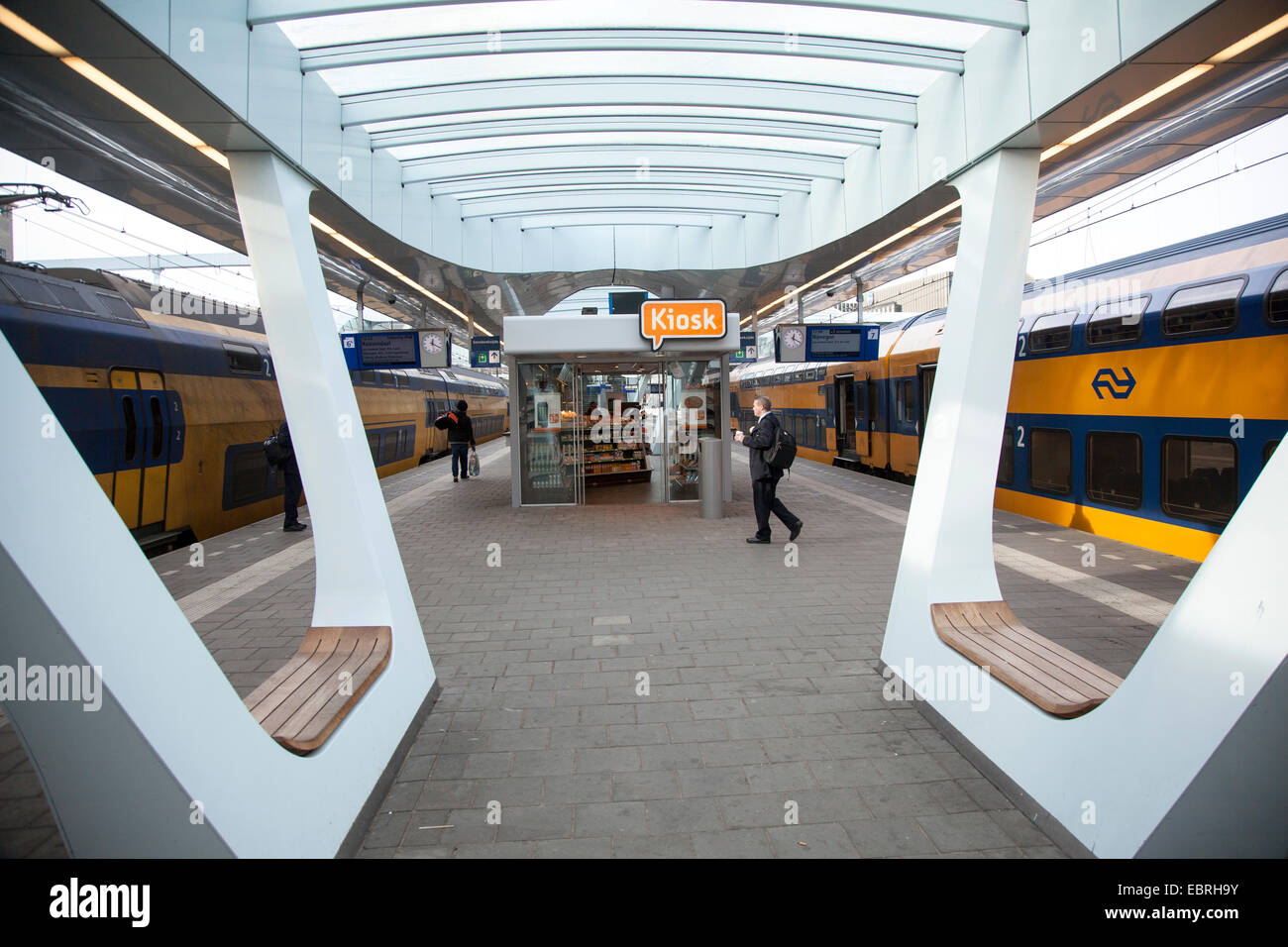 Intercity Train In Netherlands Stock Photos & Intercity Train In