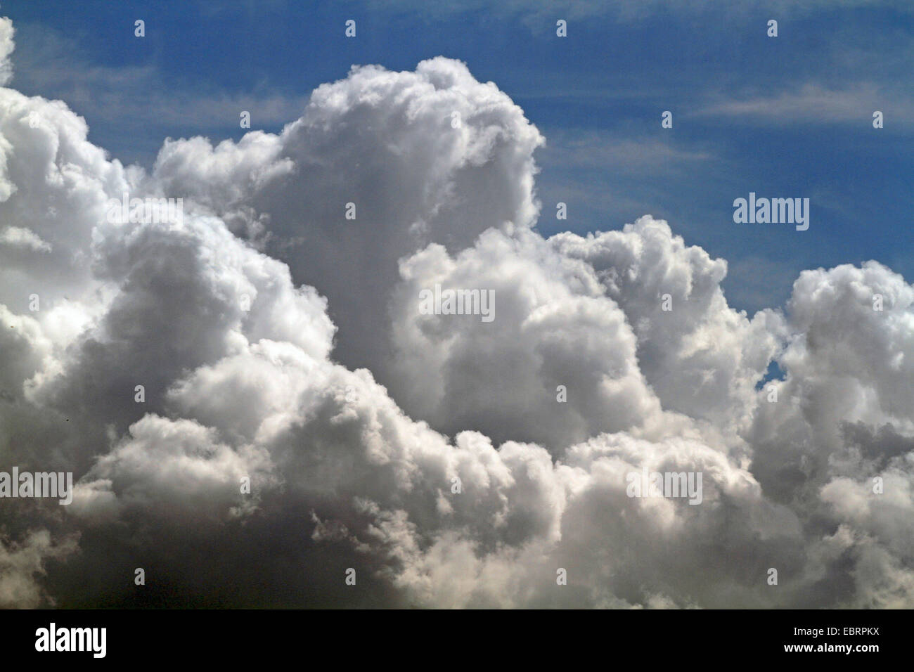 cumulus clouds at atmospheric instability, Germany - Stock Image
