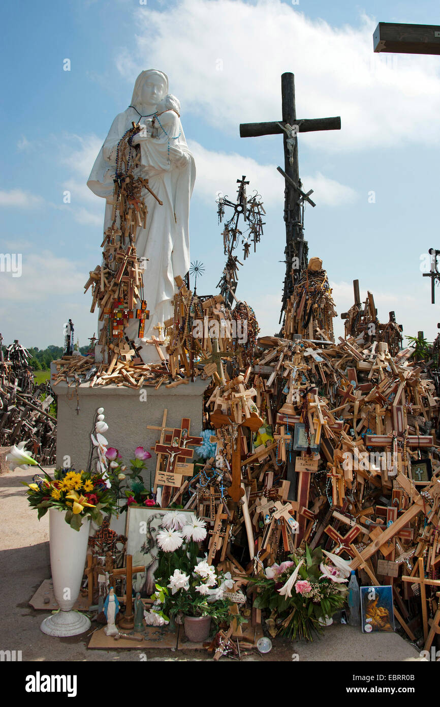 Hill of Crosses, Lithuania, Siauliai - Stock Image
