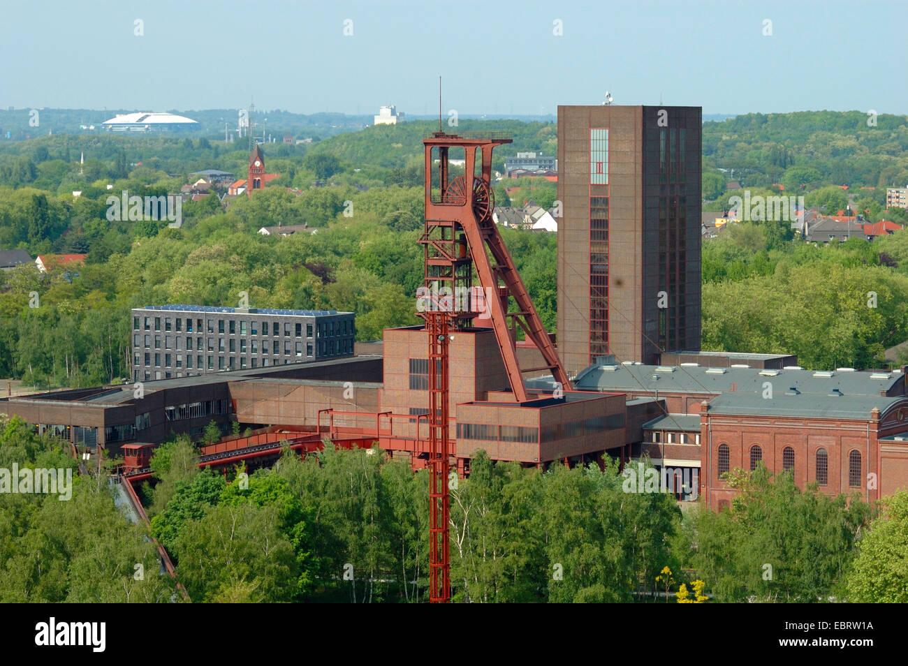 outlook from Zollverein Coal Mine Industrial Complex, Germany, North Rhine-Westphalia, Ruhr Area, Essen - Stock Image