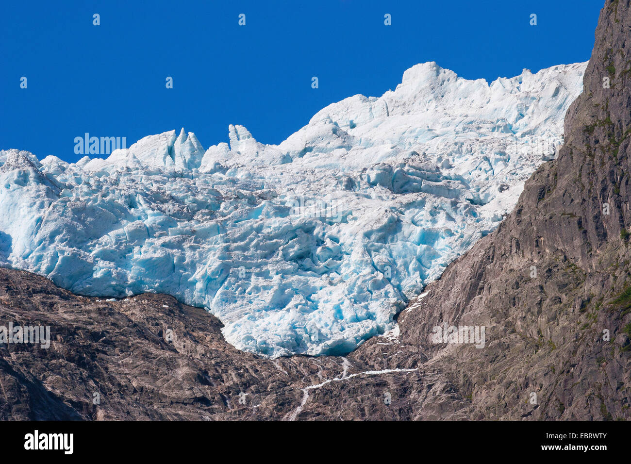 Jostedalsbreen glacier, Norway, Jostedalsbreen National Park, Supphella - Stock Image