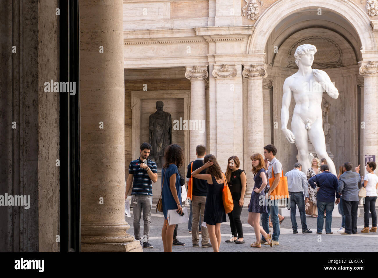 Italy: A replica of David at the Capitoline Museums, Rome. Photo from 6. September 2014. Stock Photo