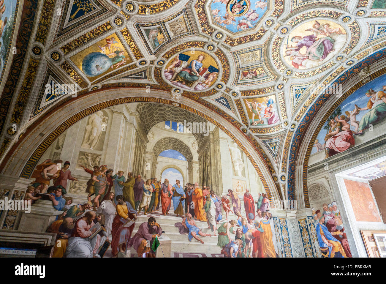 """Vatican City: Raffael's """"The School of Athens"""" Vatican Museums. Photo from 4th September 2014. Stock Photo"""