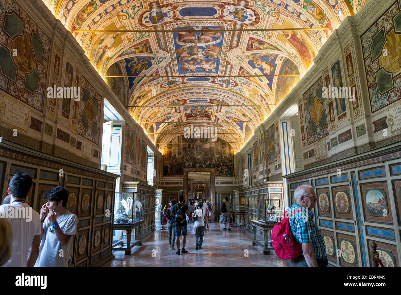 Vatican City: Visitors at the Vatican Museums. Photo from 4th September 2014. Stock Photo