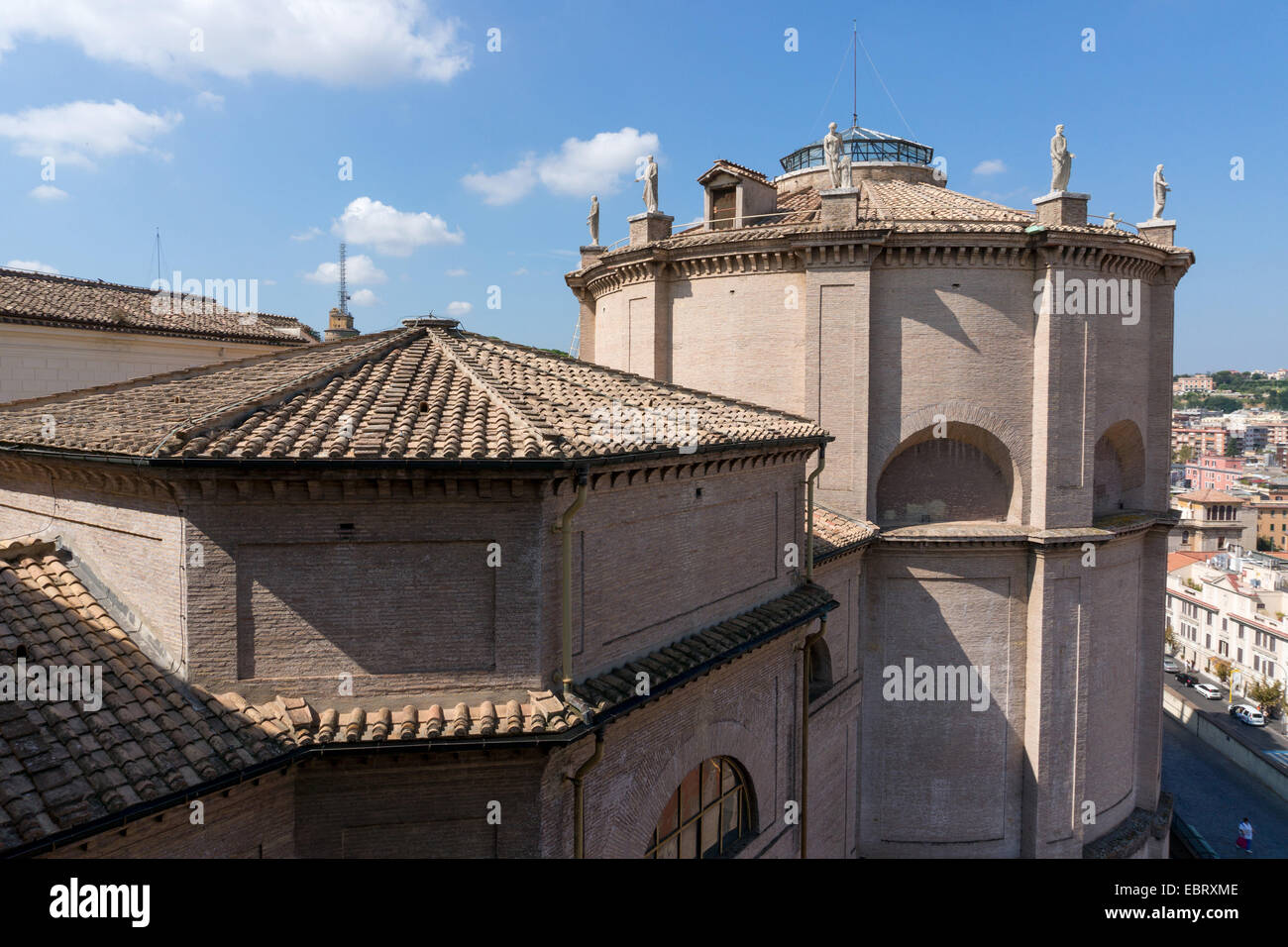 Vatican City: Outside view of the Vatican Museums. Photo from 4th September 2014. Stock Photo