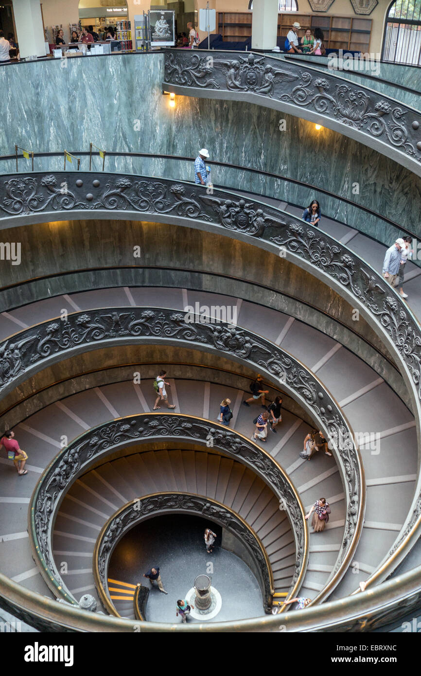 Vatican City: Spiral stairs of the Vatican Museums. Photo from 4th September 2014. Stock Photo