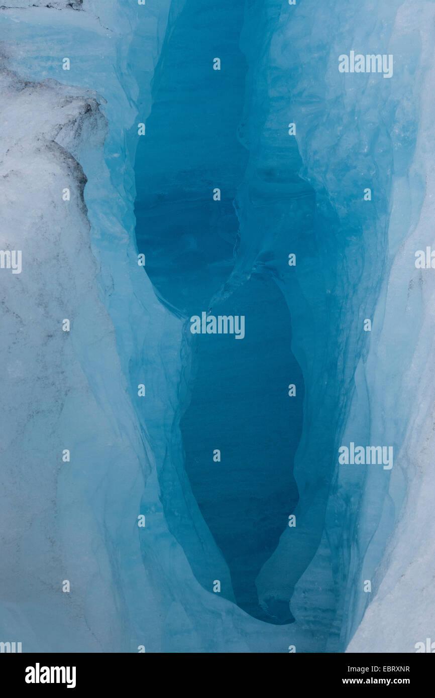 crevasse at Nigardsbreen, Norway, Jostedalsbreen National Park - Stock Image
