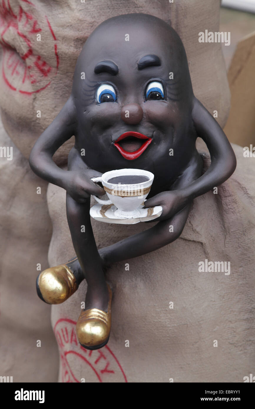 Coffee cup.Coffee beans.Coffee bean bag. - Stock Image