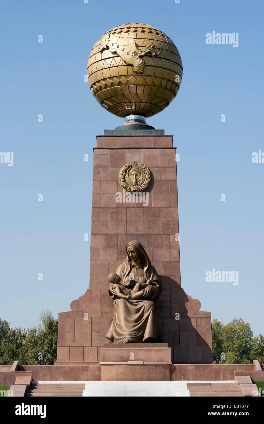 Monument of independence (Mustaqillik Yodgorligi), Tashkent, Usbekistan, Asien - Stock Image