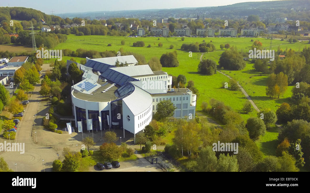 aerial view to Witten/Herdecke University, Germany, North