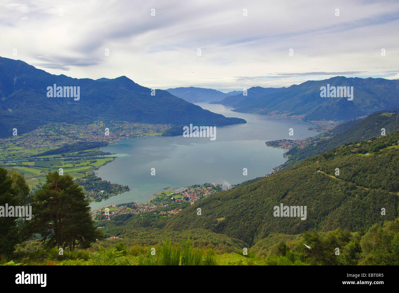north end of Lake Como, Italy, Lake Como - Stock Image