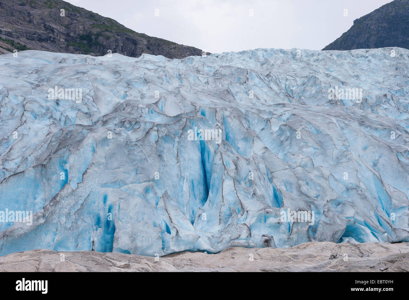 glacier tongue of Nigardsbreen, Norway, Jostedalsbreen National Park - Stock Image