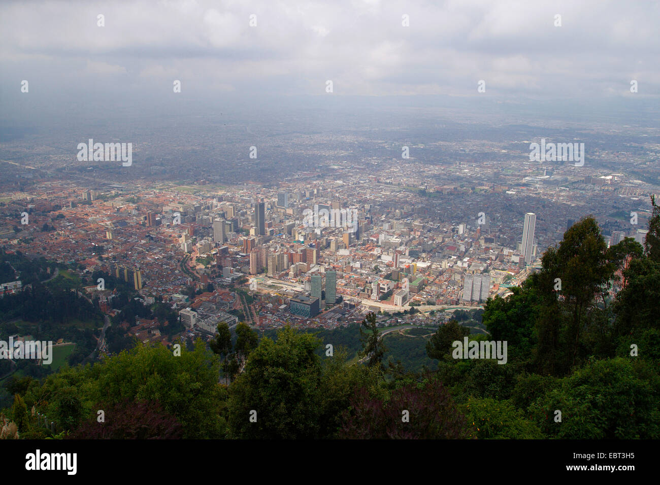 view from Montserrate to Bogot�, Colombia, Bogota - Stock Image