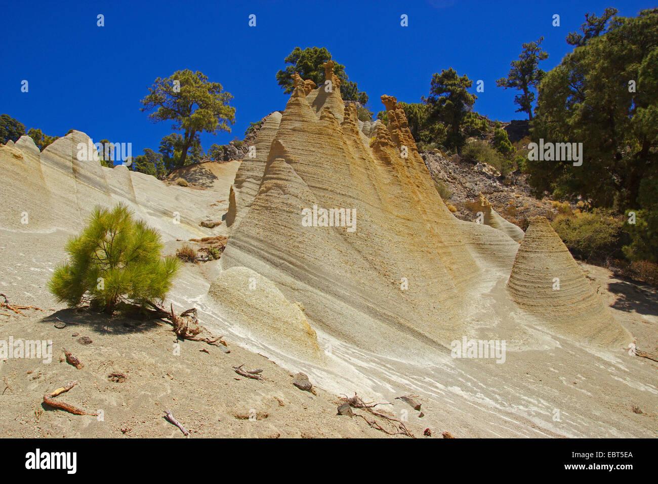 Paisaje Lunar rock formation, Canary Islands, Tenerife, Vilaflor - Stock Image