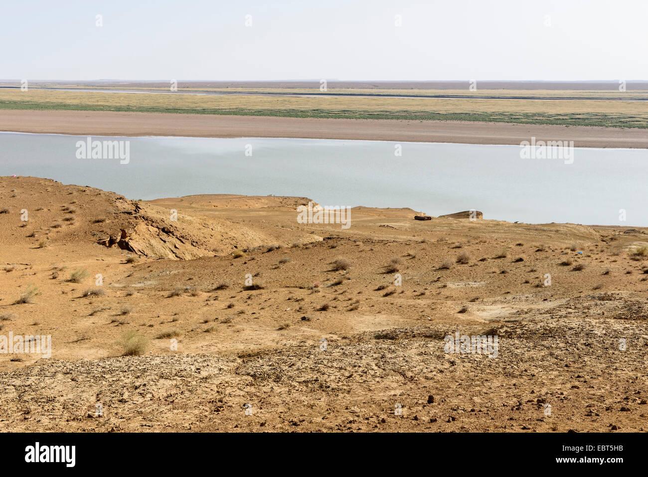 Fluss Amudarya nahe Urgench, Usbekistan, Asien - Stock Image