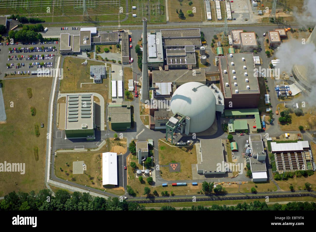 nuclear power station Grafenrheinfeld, Germany, Bavaria - Stock Image