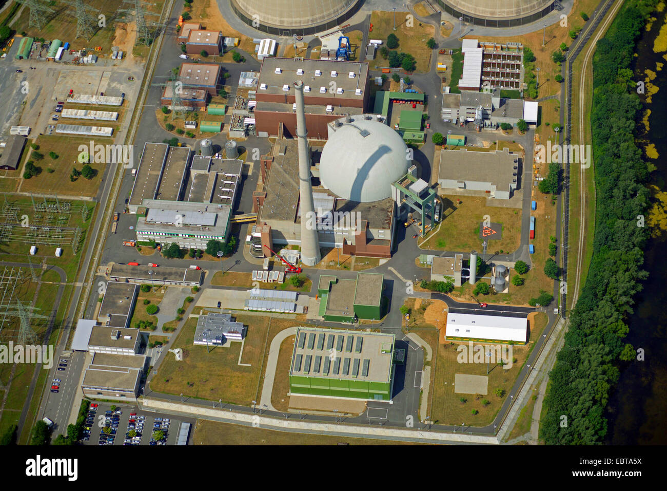 nuclear power station Grafenrheinfeld, Germany, Bavaria Stock Photo