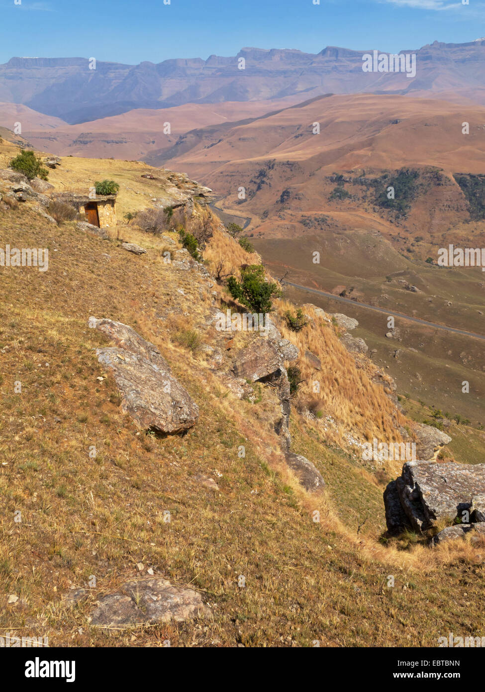 panorama at Giant's Castle mountains, South Africa, Kwazulu-Natal, Drakensberge Stock Photo