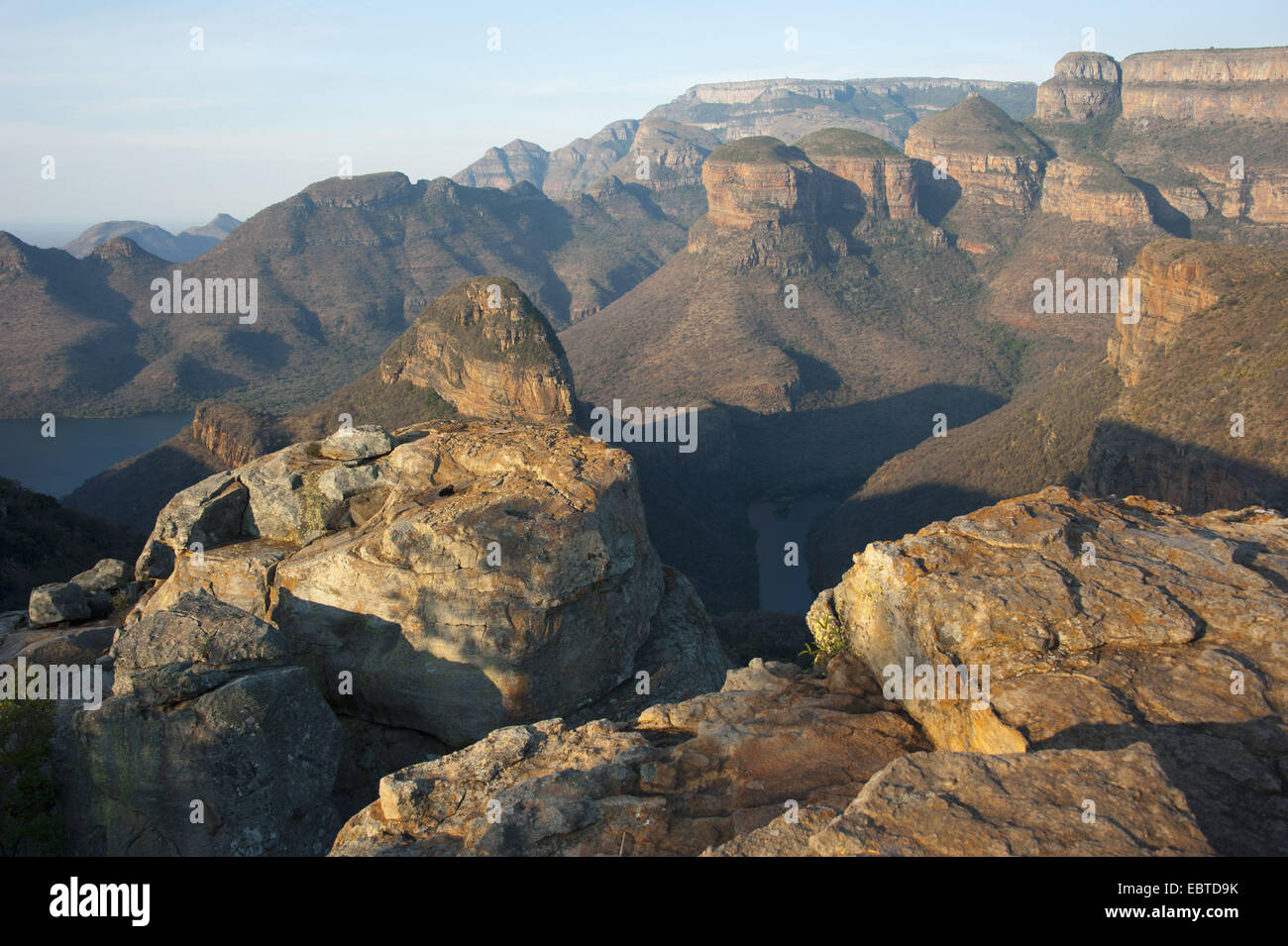 the famous round rocks 'The Tree Rondavels' in the Blyde River Canyon, South Africa, Mpumalanga, Panorama - Stock Image