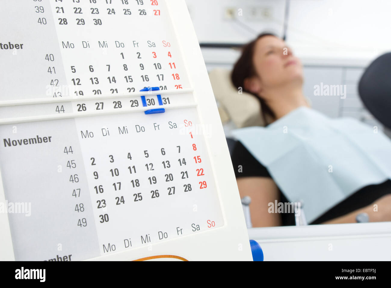 patient waiting for dental treatment - Stock Image