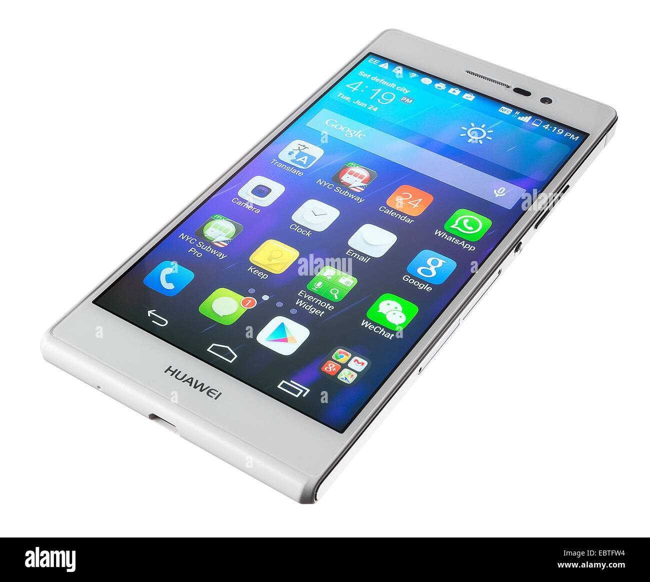 Huawei Ascend P7 Android smartphone - Stock Image