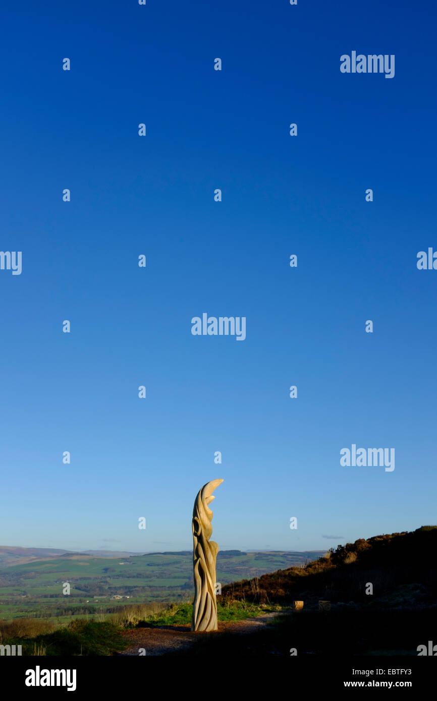 Sun Catcher Sculpture on Jeffrey Hill, Longridge, Lancashire UK by Blackburn artist Halima Cassell. - Stock Image